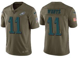 Jersey - 11 Carson Wentz - Philadelphia Eagles - Salute to Service