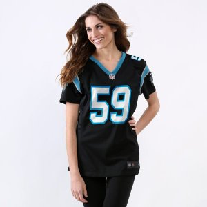 Jersey - 59 Luke Kuechly - Carolina Panthers  - FEMININA