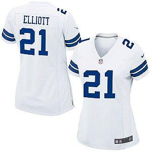 Jersey - 21 Ezekiel Elliott - Dallas Cowboys - FEMININA