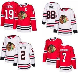 Camisa Chicago Blackhawks - 19 Toews - 88 Kane - 2 Keith - 7 Seabrook