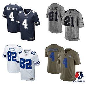 feb3f23a5a966 Dallas Cowboys - 4 Prescott - 21 Elliott - 82 Witten- 55 Vander Esch -