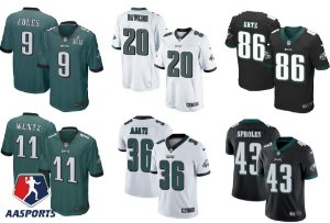 Camisa Philadelphia Eagles - 9 Foles - 11 Wentz - 17 Jeffery - 20 Dawkins - 36 Ajayi - 43 Sproles - 86 Ertz - 91 Cox