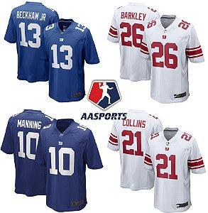 Camisa New York Giants - 10 Eli Manning - 26 Chacon Barkley - 87 Sterling Shepard - 88 Evan Engram