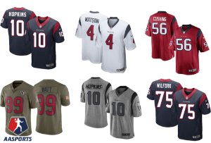 Camisa Houston Texans - 4 Watson - 10 Hopkins - 32 Mathieu - 56 Cushing - 75 wilfork - 90 Clowney - 99  JJ Watt
