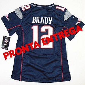 Camisa New England Patriots - 12 Tom Brady - Feminina - PRONTA ENTREGA