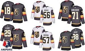 Camisa Vegas Golden Knights - 29 Fleury - 18 Neal - 56 Haula - 71 Karlsson -  88 Schmidt -  57 Perron -  75 Ryan Reaves