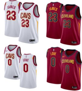 Camisa Cleveland Cavaliers - 23 LeBron James - 0 Kevin Love