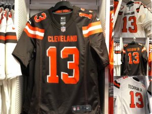 Camisa Cleveland Browns - 6 Baker Mayfield  - 23 Joe Haden - 27 Jabrill Peppers - 51 Jamie Collins - 73 Joe Thomas - 95 Myles Garrett - 13 Odell Beckham Jr