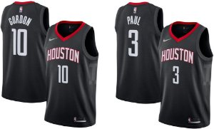 Camisa Houston Rockets - 13 James Harden - 3 Chris Paul