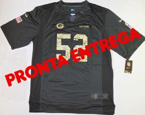 Camisa Green Bay Packers - 52 Clay Matthews - Salute to Service - PRONTA ENTREGA
