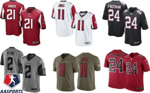 Camisa Atlanta Falcons - 2 Matt Ryan - 11  Julio Jones - 21 Deion Sanders - 24 Devonta Freeman