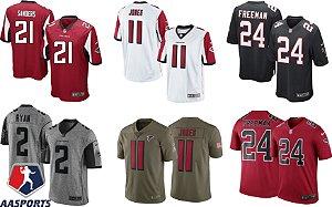 Camisa Atlanta Falcons - 2 Matt Ryan - 11  Julio Jones - 21 Deion Sanders - 24 Devonta Freeman