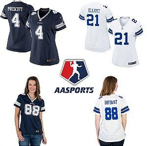 Dallas Cowboys - FEMININA -  4 Prescott - 21 Elliott - 82 Witten - 88 Briant