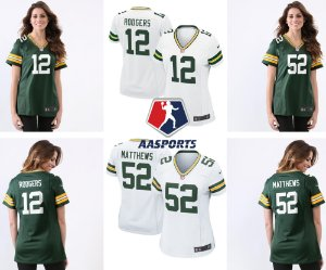 Camisa Green Bay Packers - 12 Rodgers - 52 Matthews - 80 Graham - FEMININA