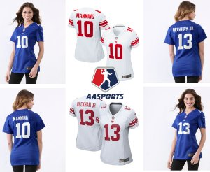 Camisa New York Giants - 10 Eli Manning - 13 Odell Beckham Jr - FEMININA