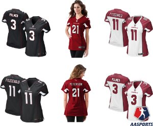 Camisa Arizona Cardinals - 3 Carson Palmer - 11 Larry Fitzgerald - 21 Patrick Peterson - FEMININAS