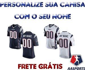 Camisa New England Patriots - COM PERSONALIZAÇÃO DE NOME E NÚMERO