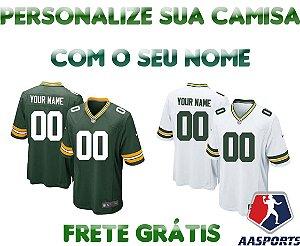 Camisa Green Bay Packers - COM PERSONALIZAÇÃO DE NOME E NÚMERO