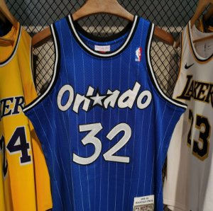 Camisa Orlando Magic - 1 Penny Hardaway - 1 Tracy McGrady - 32 Shaquille O'Neal