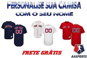Camisas Boston Red Sox - COM PERSONALIZAÇÃO DE NOME E NÚMERO