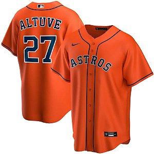 Camisa Houston Astros -  27 Jose Altuve - 4 George Springer - 2 Alex Bregman