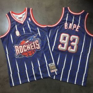 Camisa - Bape - Rockets - Mitchell & Ness