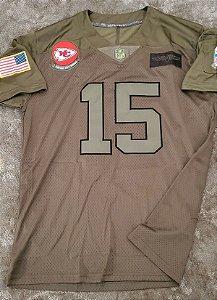 Camisa Kansas City Chiefs - 15 Patrick Mahomes  - Salute to Service - Gridiron Gray