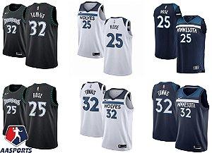 Camisa Minnesota Timberwolves - 32 Karl-Anthony Towns - 25 Derrick Rose