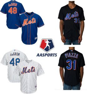 Camisa New York Mets - 34 Noah Syndergaard - 52 Yoenis Cespedes - 31 Mike Piazza - 18 Darryl Strawberry - 18 Darryl Strawberry - 30 Michael Conforto - 16 Dwight Gooden - 17 Keith Hernandez - 48 Jacob deGrom