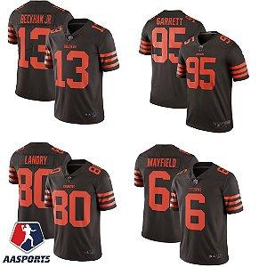 Camisa Cleveland Browns - 6 Baker Mayfield - 95 Myles Garrett - 13 Odell Beckham Jr - 80 Jarvis Landry -  Color Rush