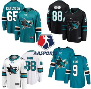 Camisa San Jose Sharks - 9 Evander Kane - 88 Brent Burns - 19 Joe Thornton - 65 Erik Karlsson - 8 Joe Pavelski