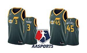 Camisa Utah Jazz - 3 Ricky Rubio - 45 Donovan Mitchell - 24 Grayson Allen - Earned Edition