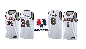 Camisa Milwaukee Bucks - 6 Eric Bledsoe - 34 Giannis Antetokounmpo - Swingman