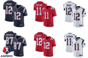 Camisa New England Patriots - 12 Tom Brady - 92 Harrison - 28 White - 26 Sony Michel - 87 Gronkowski - 11 Edelman