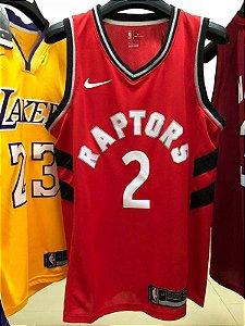 Camisa Toronto Raptors - 2 Kawhi Leonard - 7 Kyle Lowry - 43 Pascal Siakam - 9 Serge Ibaka
