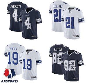Camisa Dallas Cowboys - 4 Dak Prescott - 21 Ezekiel Elliott - 55 Leighton Vander Esch - 19 Amari Cooper - 82 Jason Witten