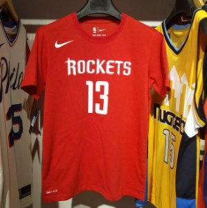 Camisa Houston Rockets - 13 James Harden - com mangas
