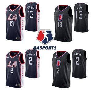 Camisa LA Clippers - 2 Kawhi Leonard - 13 Paul George