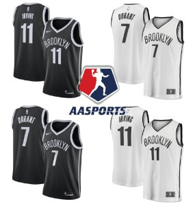 Camisa Brooklyn Nets tradicional - 11 Kyrie Irving - 7 Kevin Durant