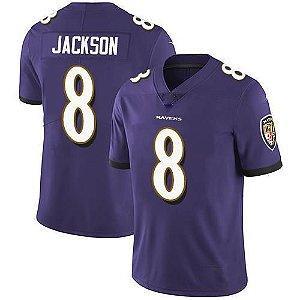 Camisa Baltimore Ravens - 9 Justin Tucker - 8 Lamar Jackson - 52 Ray Lewis - 15 Marquise Brown
