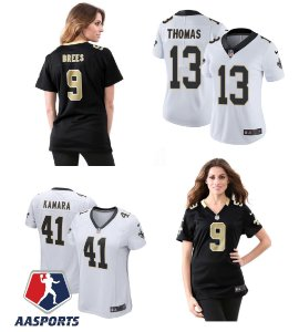 Camisa New Orleans Saints - 9 Drew Brees - 41 Alvin Kamara - 13 Michael Thomas - FEMININAS