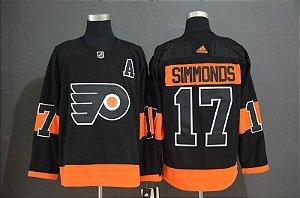 Camisa Philadelphia Flyers - 17 Wayne Simmonds - 28 Claude Giroux - 53 Shayne Gostisbehere - 79 Carter Hart