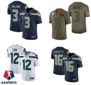 Camisa Seattle Seahawks - 3 Russell Wilson - 12 Fan - 31 Kam Chancellor - 89 Doug Baldwin - 16 Tyler Lockett