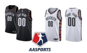 Camisa Brooklyn Nets - 11 Kyrie Irving - 7 Kevin Durant - escolha qualquer jogador para a camisa