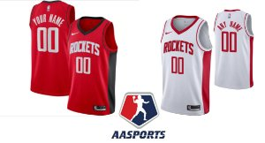 Camisa Houston Rockets  - 13 James Harden - 0 Russell Westbrook - com personalização - 19/20