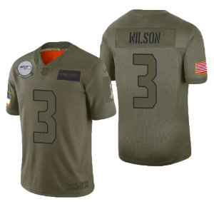 Camisa Seattle Seahawks - 3 Russell Wilson - Salute to service