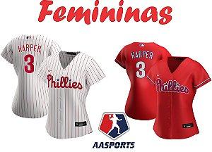Camisa Philadelphia Phillies - 3 Bryce Harper - FEMININA