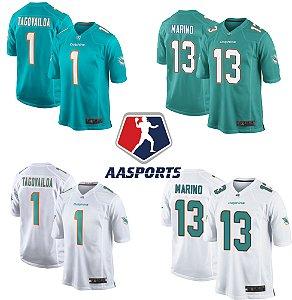 Camisa Miami Dolphins - 13 Dan Marino - 13 Tua Tagovailoa