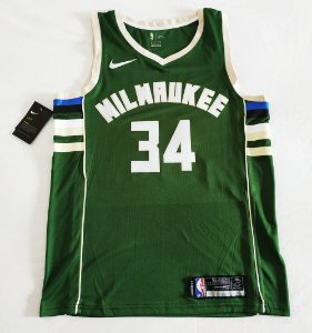 Camisa Milwaukee Bucks - 34 Giannis Antetokounmpo - Pronta Entrega
