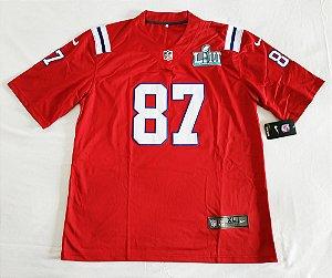 Camisa New England Patriots - 87 Rob Gronkowski - Pronta entrega